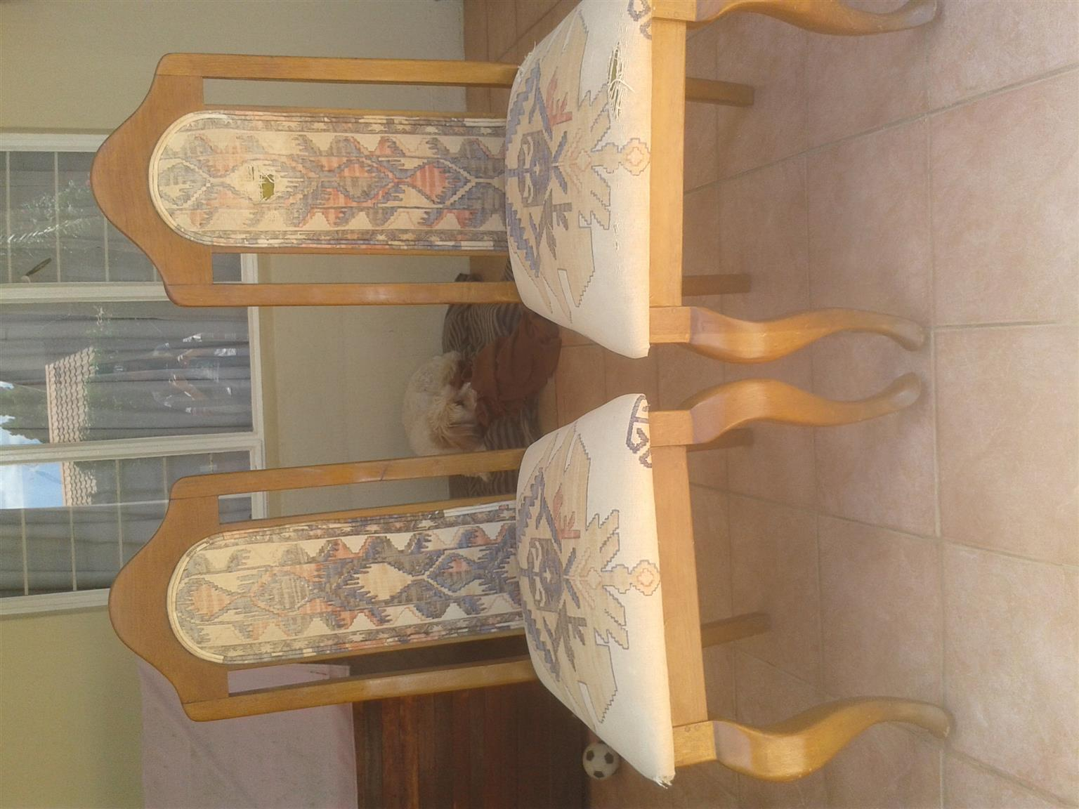 2 oak chairs to restore