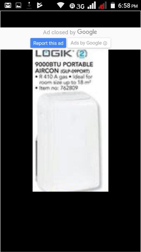 Portable Air-con 9000btu