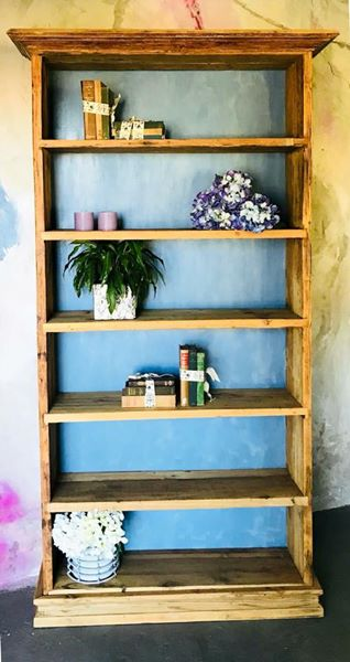 Reclaimed Wooden Book Shelf