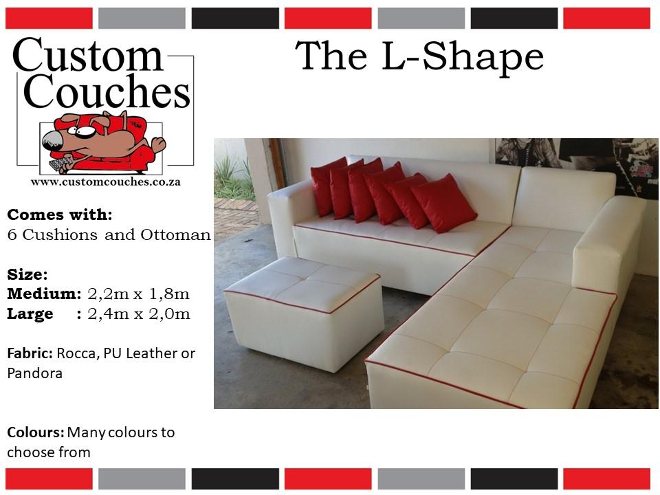 Custom Couches L Shape Medium - R6250