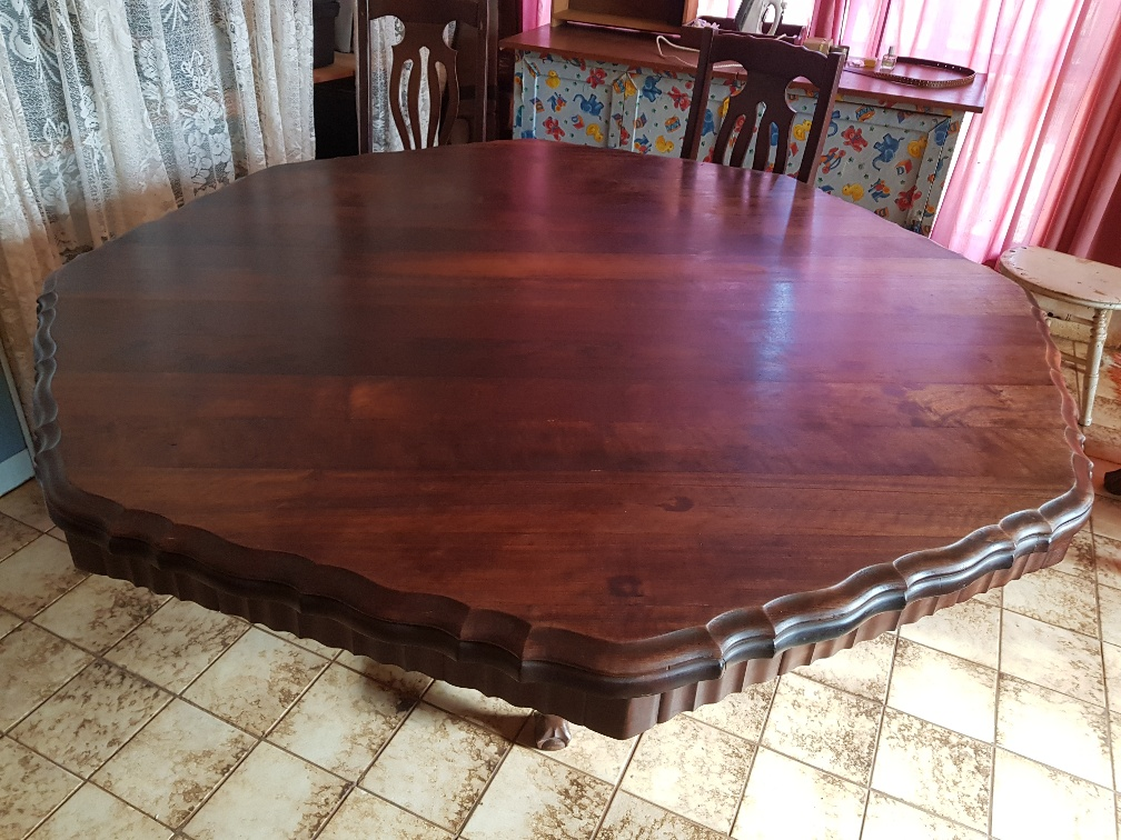 Imbuia dining table with 6 chairs - Amfra Bethlehem 1960's