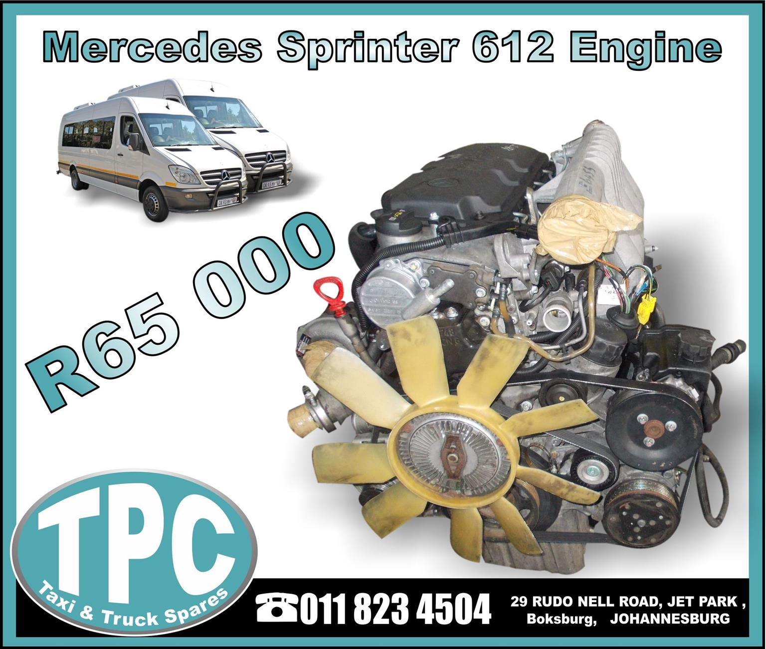 Mercedes Sprinter 612 Engine - USED - New And Used Replacement Parts.