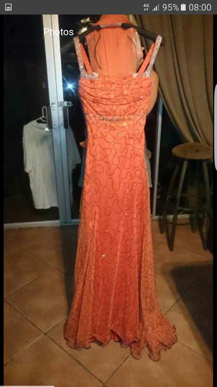 Evening Dress/Matric Farewell - Burnt Orange