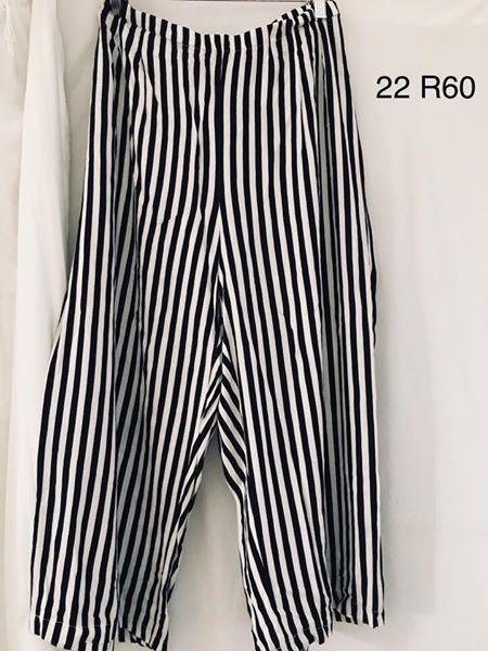 Black and white striped pajama pants size 22
