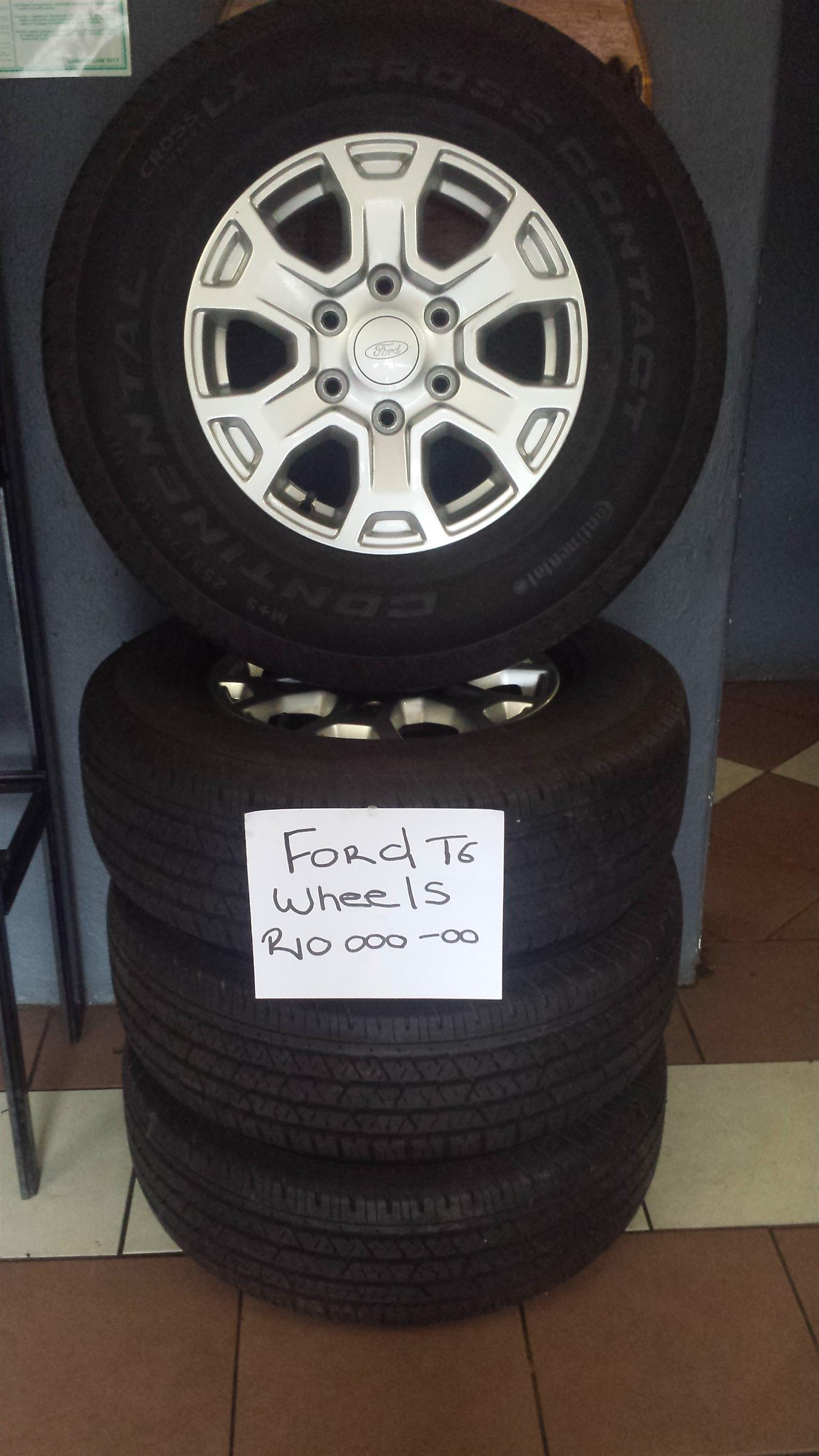 Ford T6 Wheels for sale R10,OOO