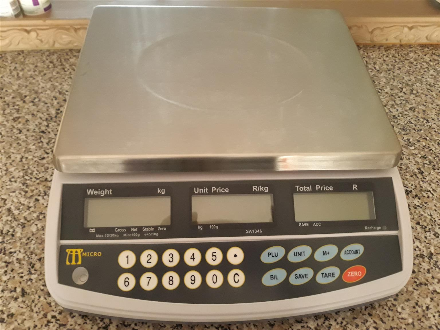 Electronic scale with calibrated & verfication certificate