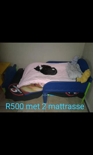 Kiddies bed with mattresses