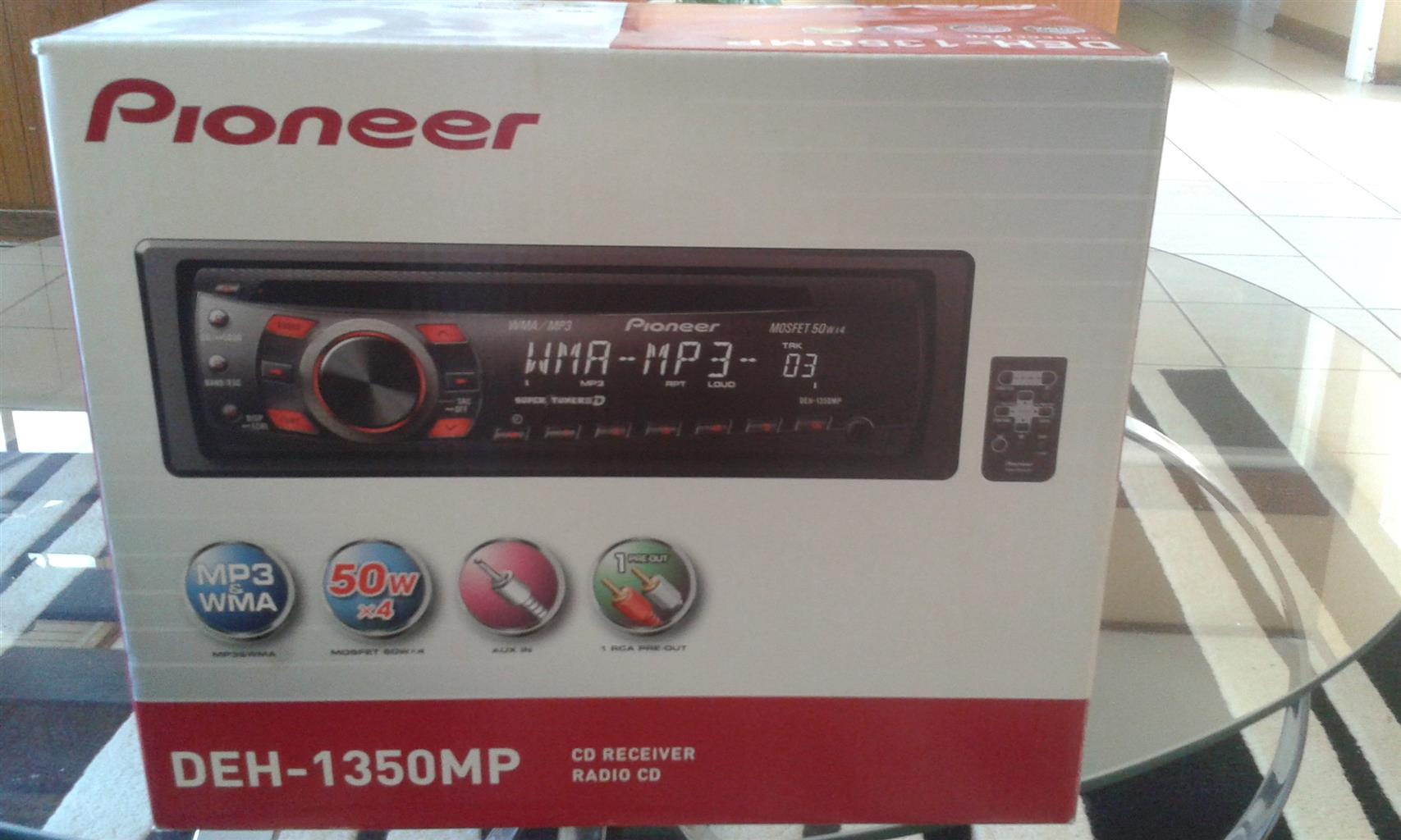 Pioneer DEH-1350mp car radio for sale R500. Mp3 and wma 50 w x4 .Aux in 1rca pre out.cd receiver and radio