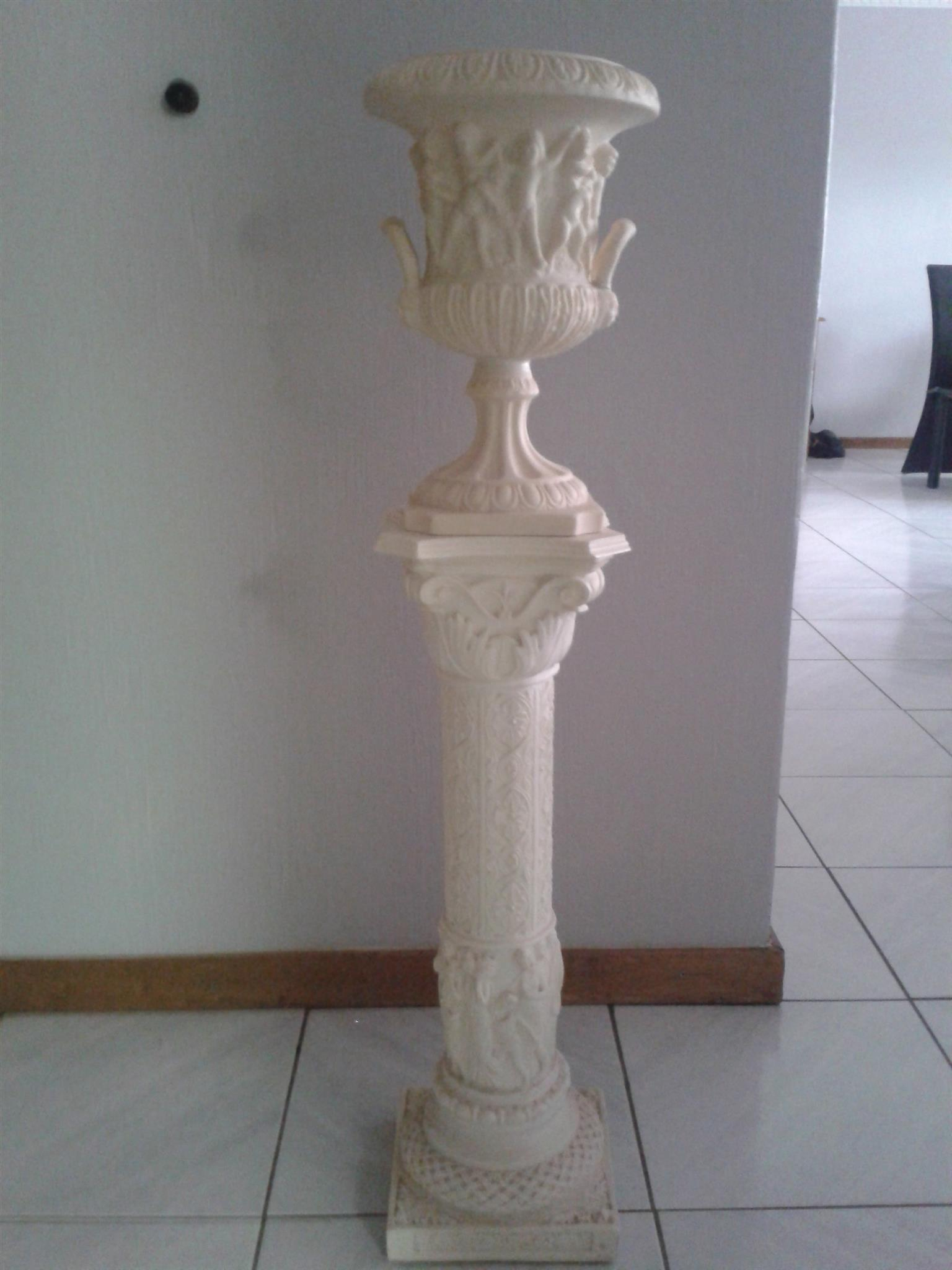 White column with matching planter