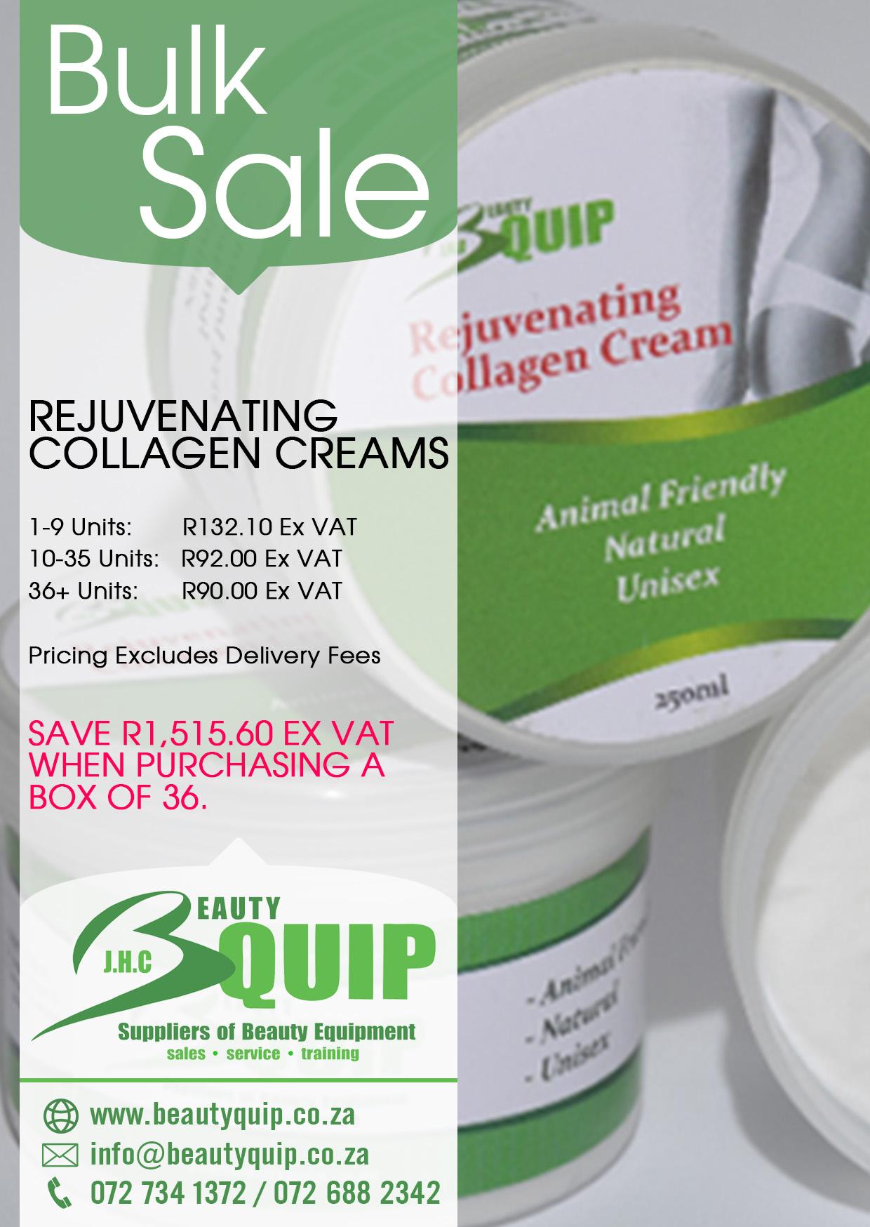 Bulk Rejuvenating Collagen Cream Special !!