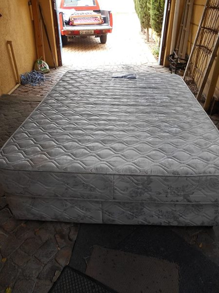 One double bed base and mattress