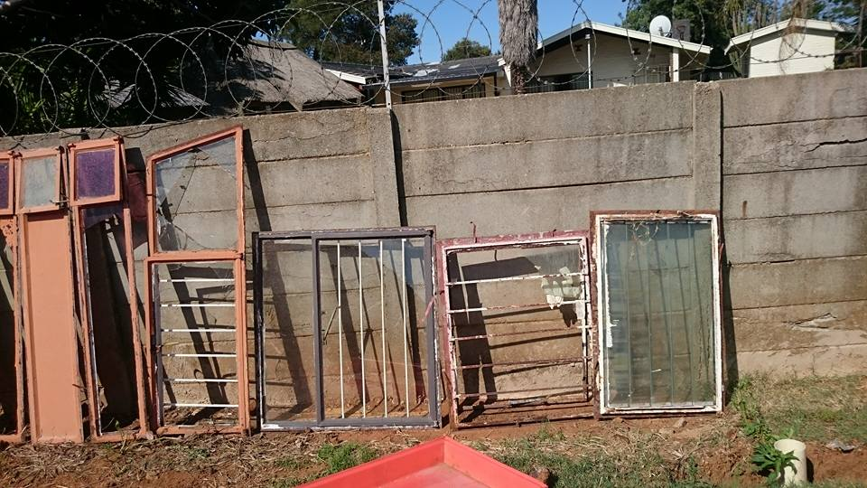 Various window and door frames
