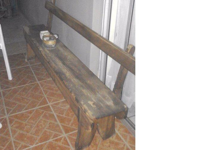 Old Type Wooden School bench