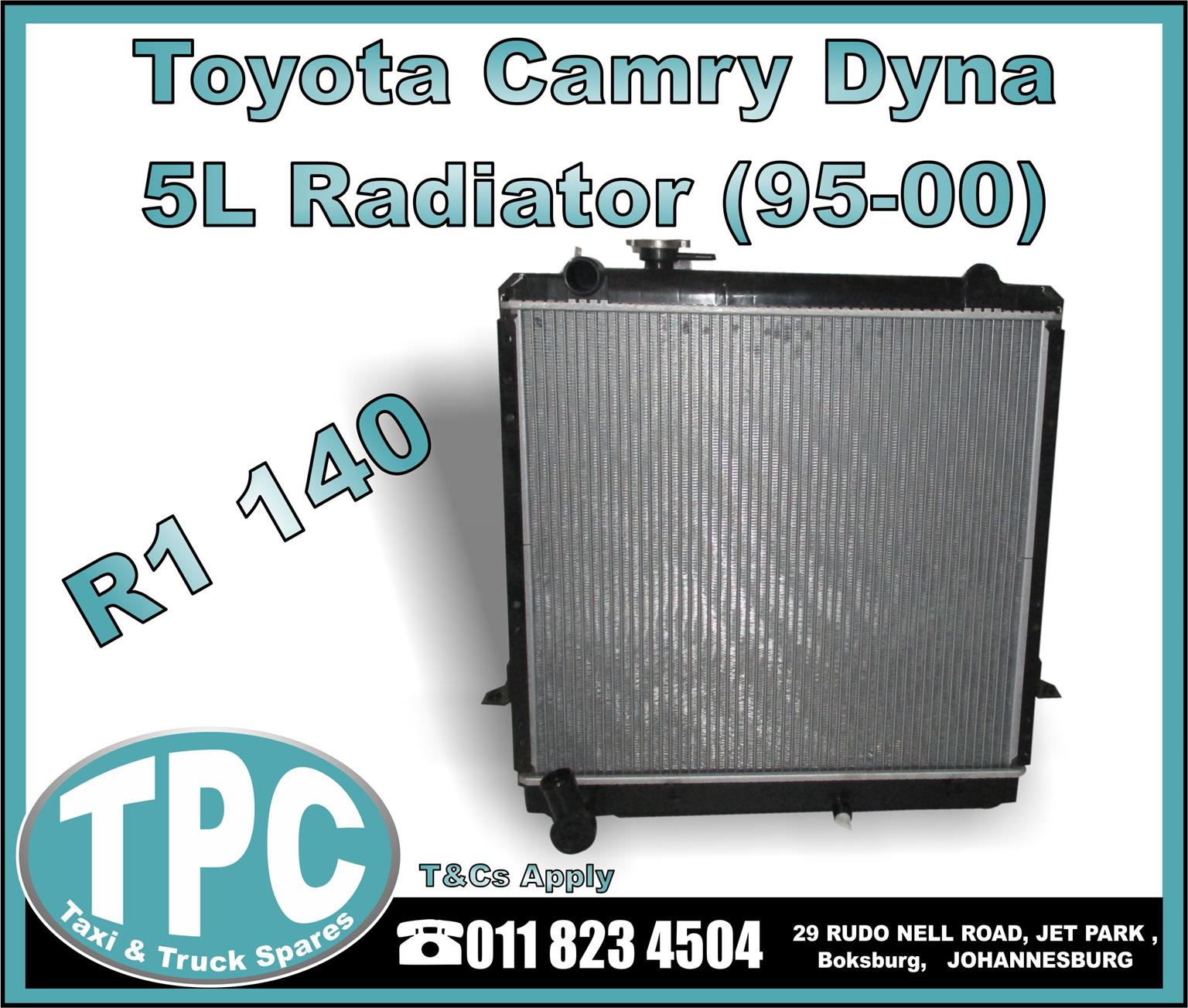 Toyota Camry Dyna 5L Radiator - 95-00 - New Replacement Truck Parts - TPC.