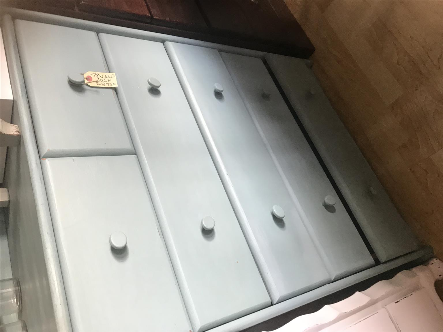Pretty BLUE large chest of drawers at Hey Judes Bothas Hill shop