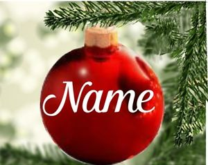 Personalized Christmas Bauble Name STICKERS !!