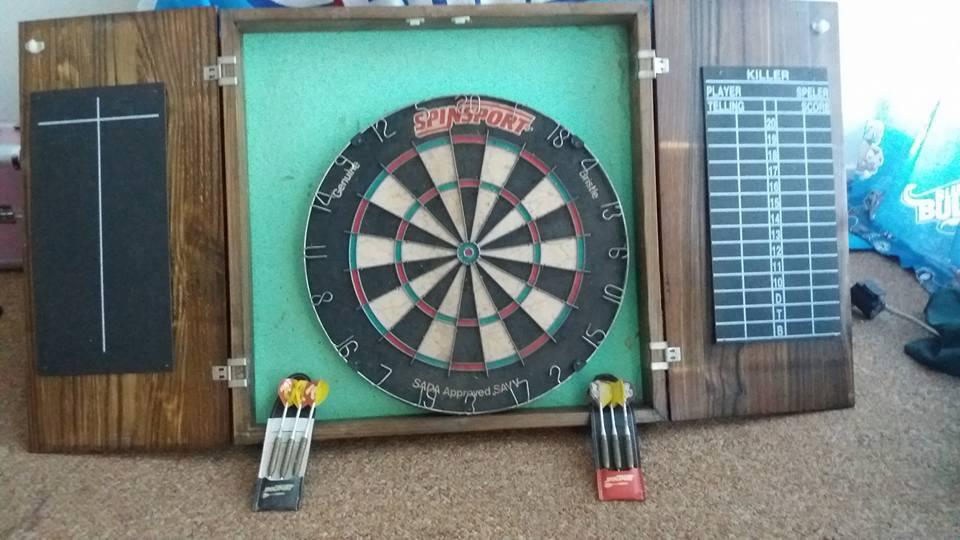 Dart board in case for sale