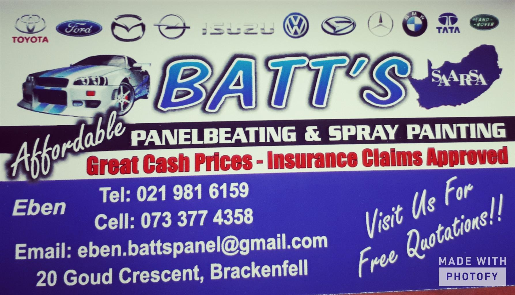 "Batt""s Panelbeaters"