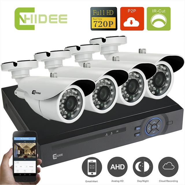 4 Channel DVR system with 4 x 2MP digital camera's