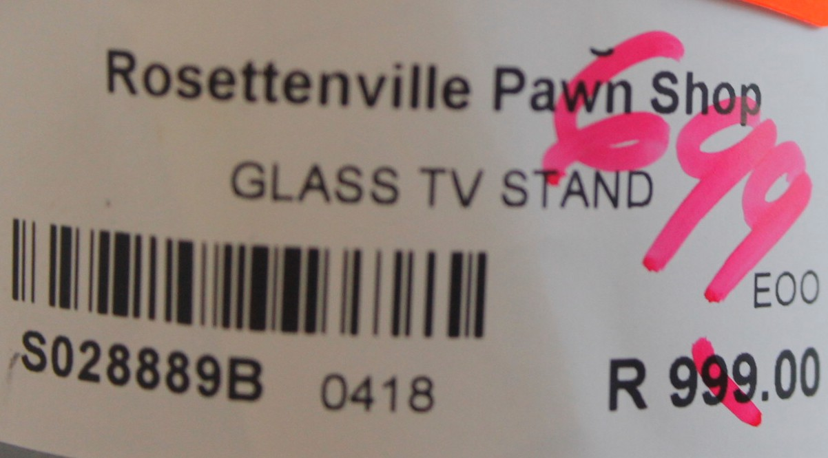 Glass tv stand S028889b  #Rosettenvillepawnshop