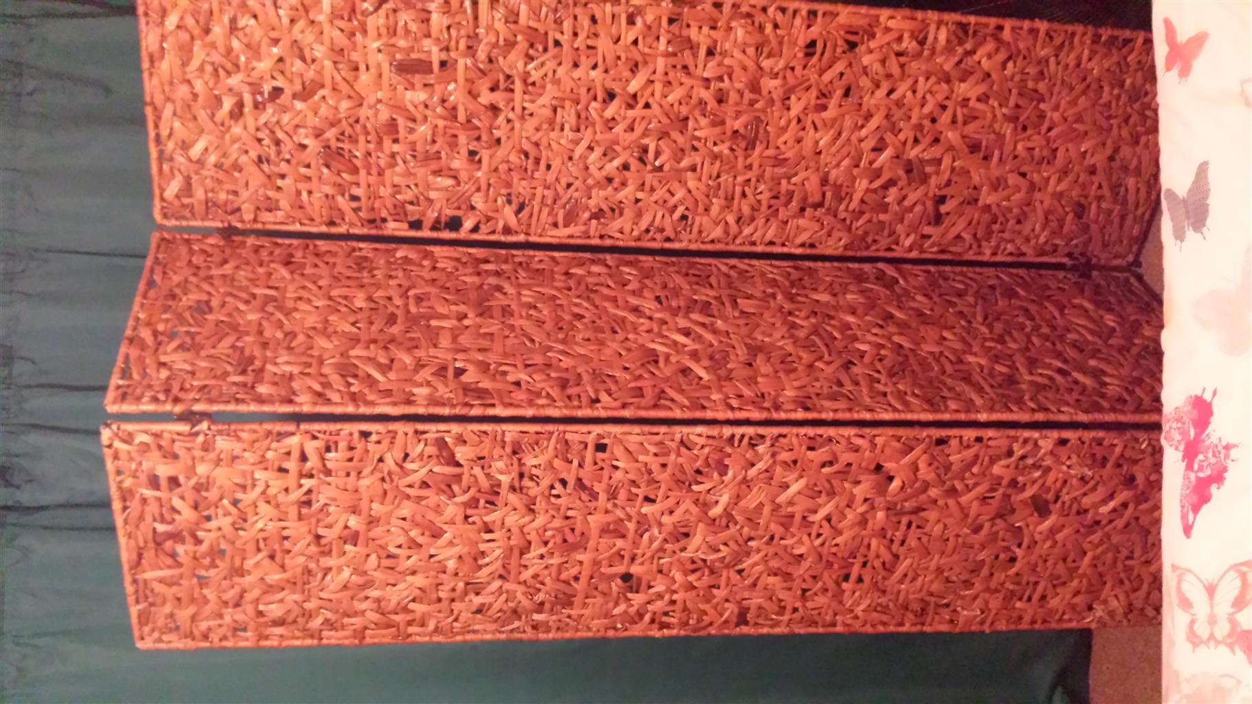 Folding Cane room divider
