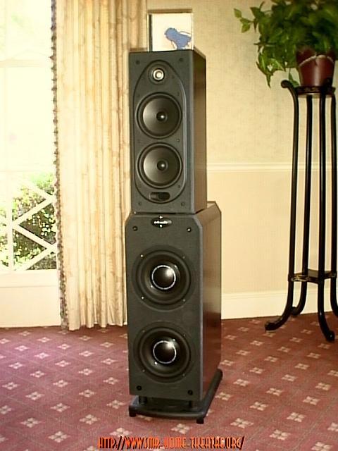 POLK RT3000 ACTIVE SUB/TOWER LOUDSPEAKERS