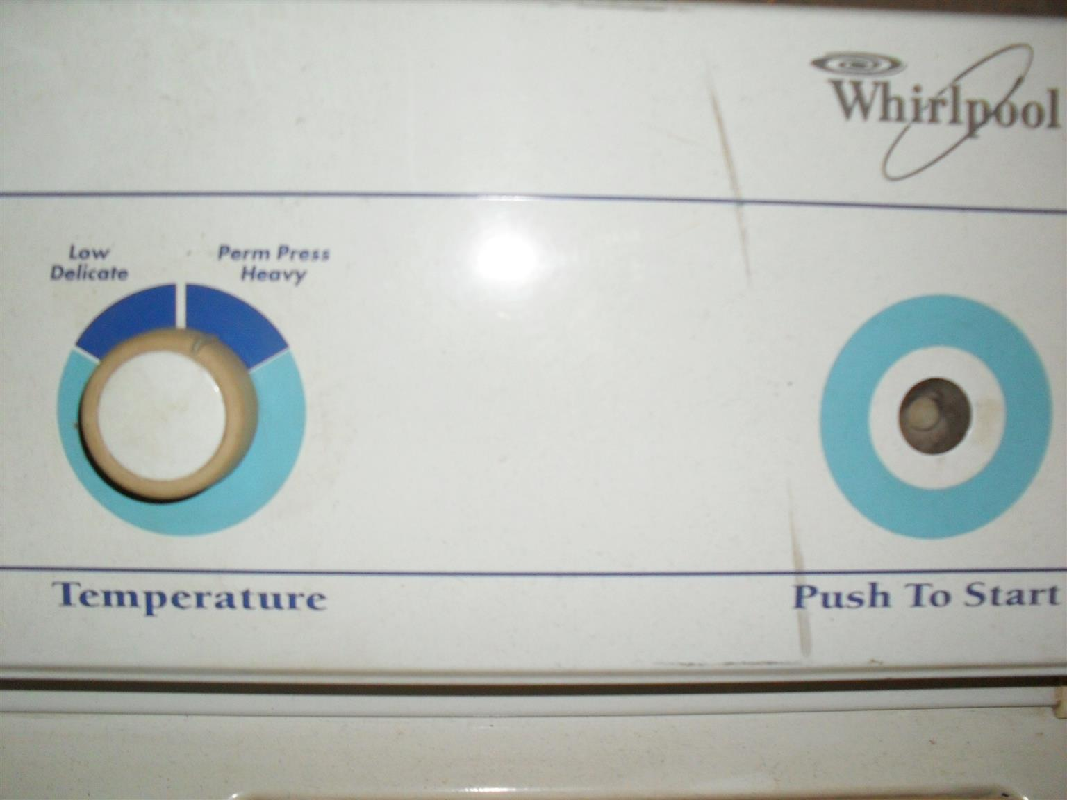 Whirlpool Super Capactity Plus Dryer  Front  Loader            R2000.00