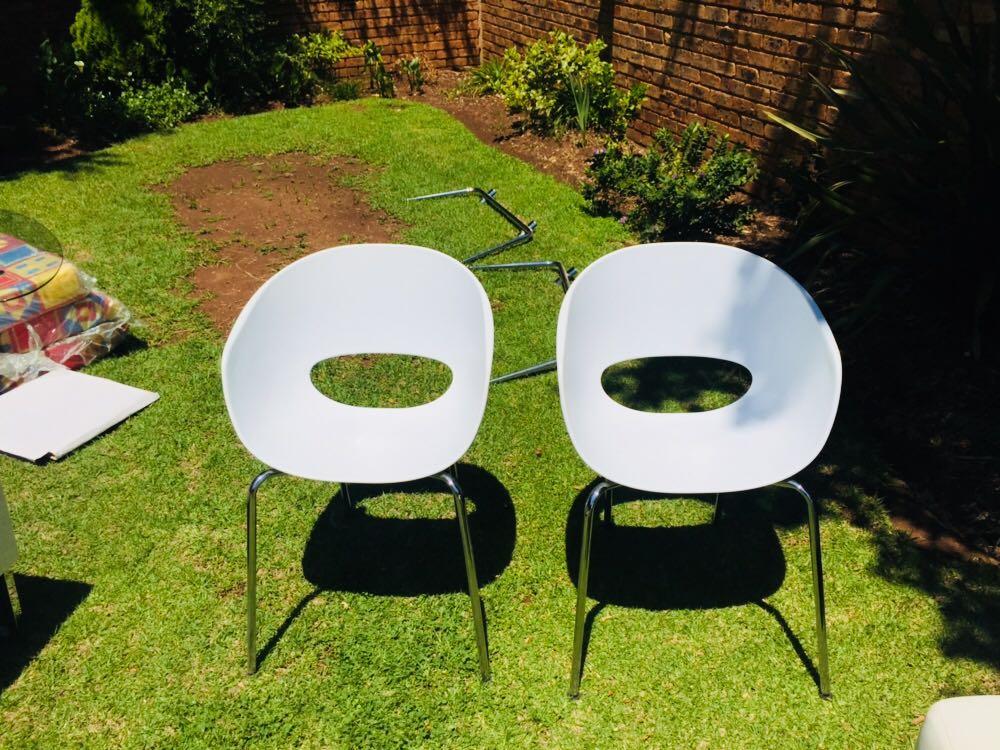 White Bucket Chairs