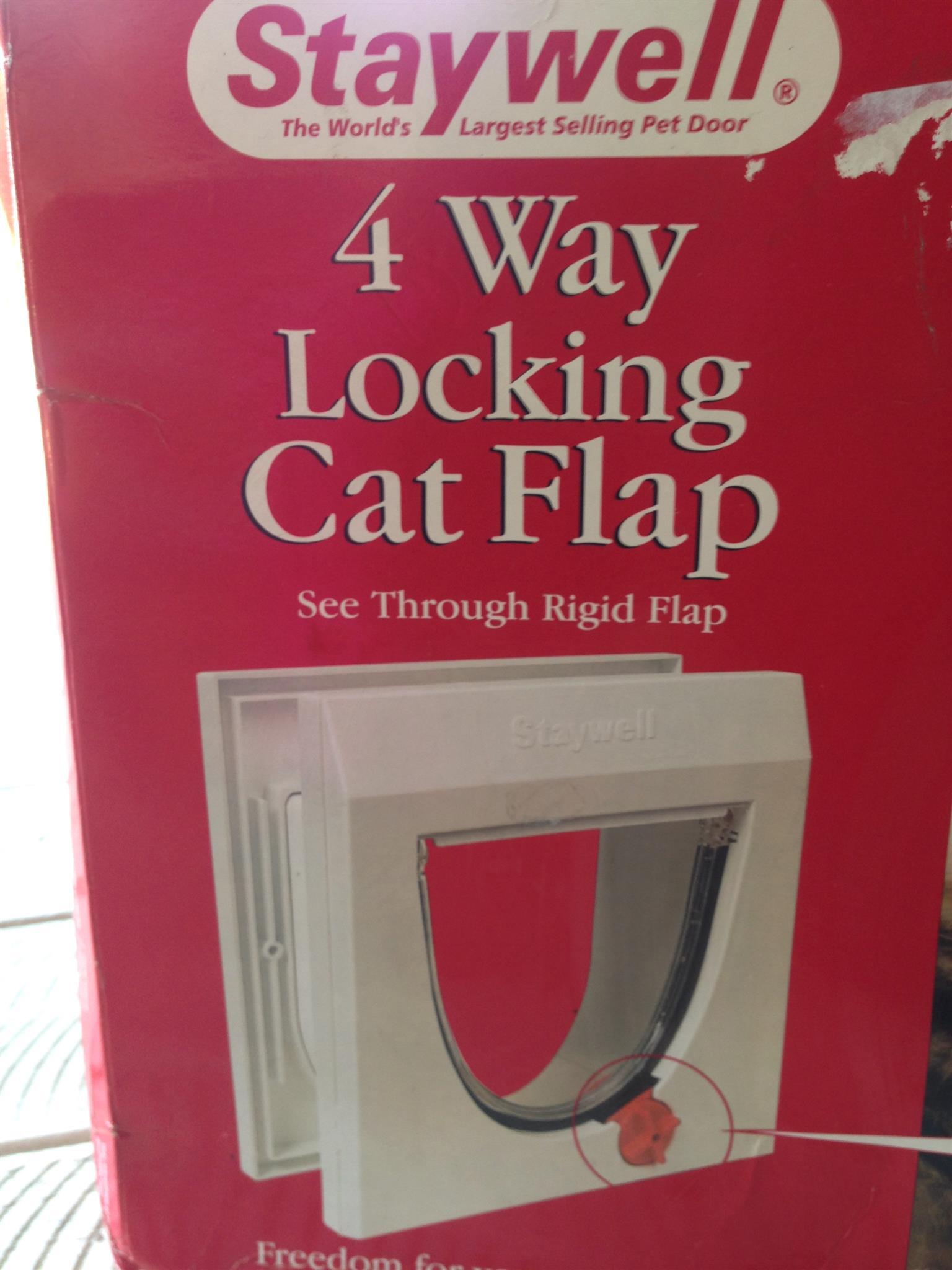 4 Way Locking Cat Flap