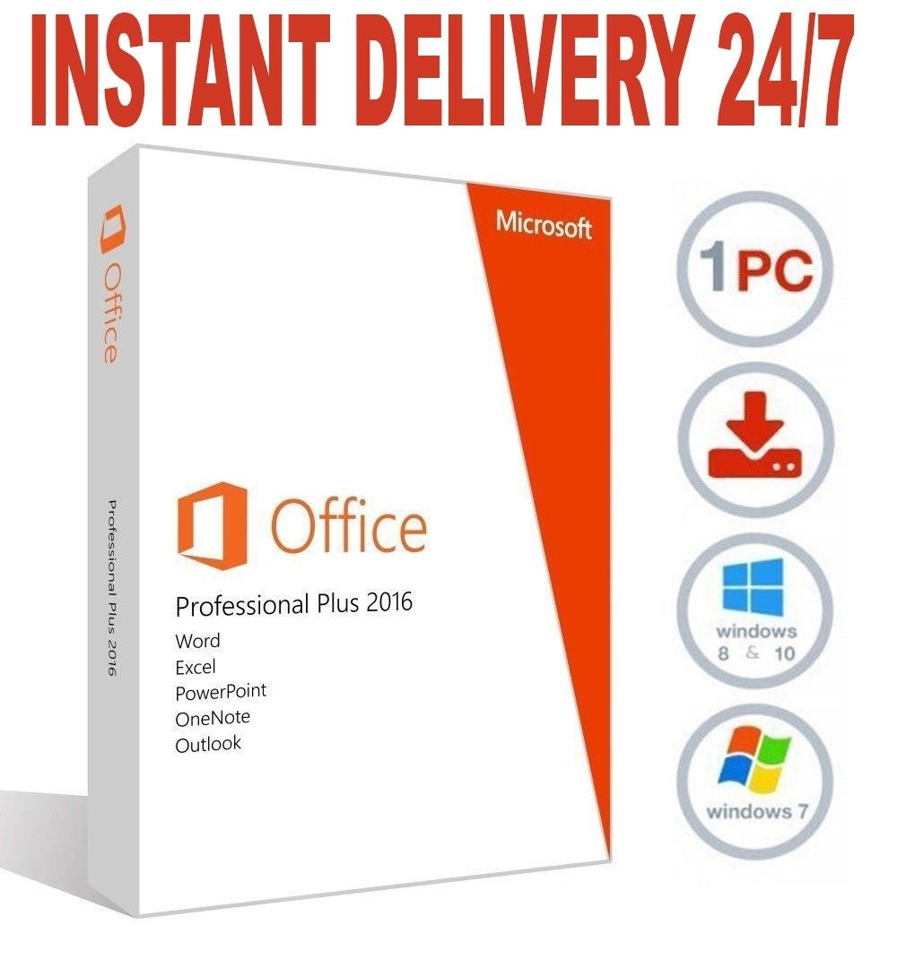 MICROSOFT OFFICE 2016 PRO PLUS 32/64 BIT PRODUCT KEY / INSTANT DELIVERY!