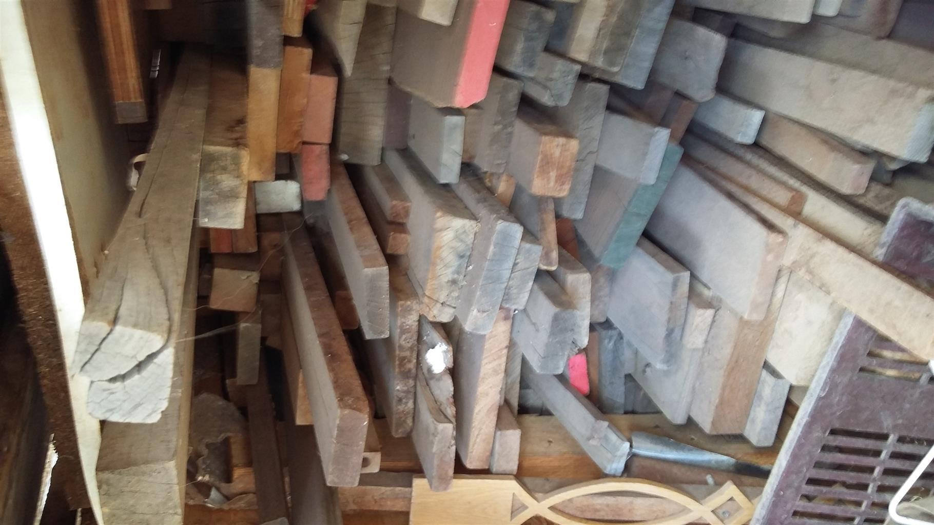 Rosewood, Kiaat, Ash, Oak and machinery
