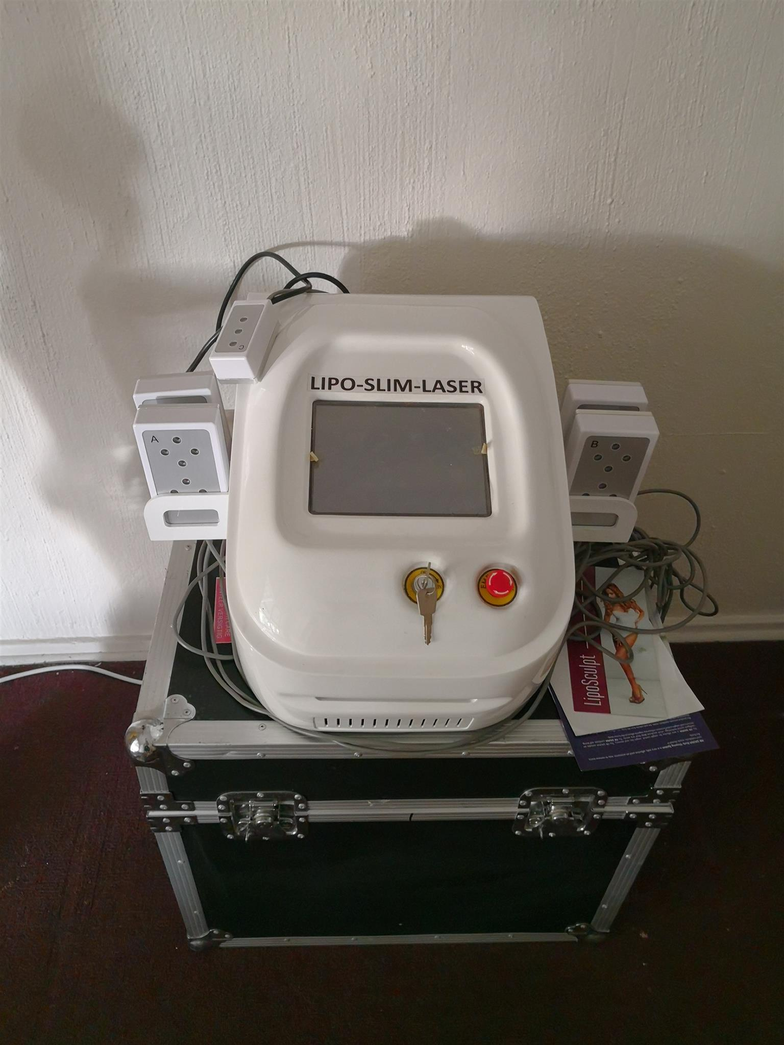 Lazer liposuction machine an vibranting machine
