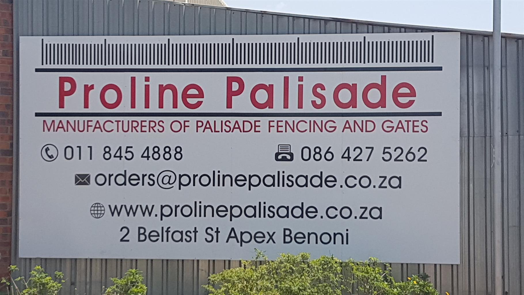PALISADE FENCING - www.prolinepalisade.co.za