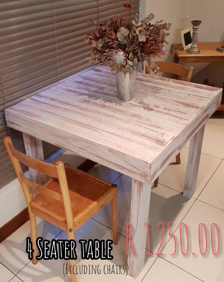 4 Seater pallet table