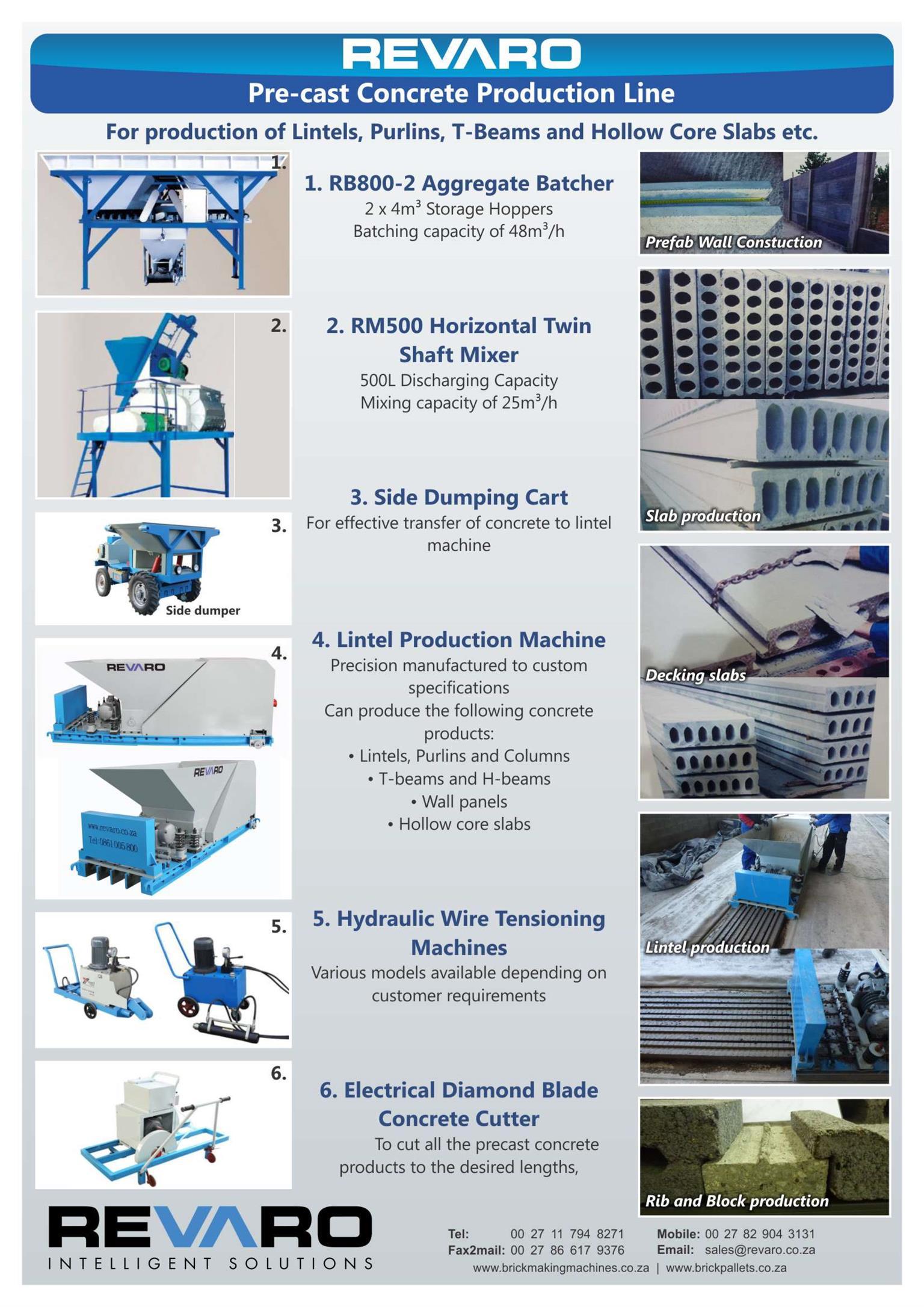 Lintel Production Machine