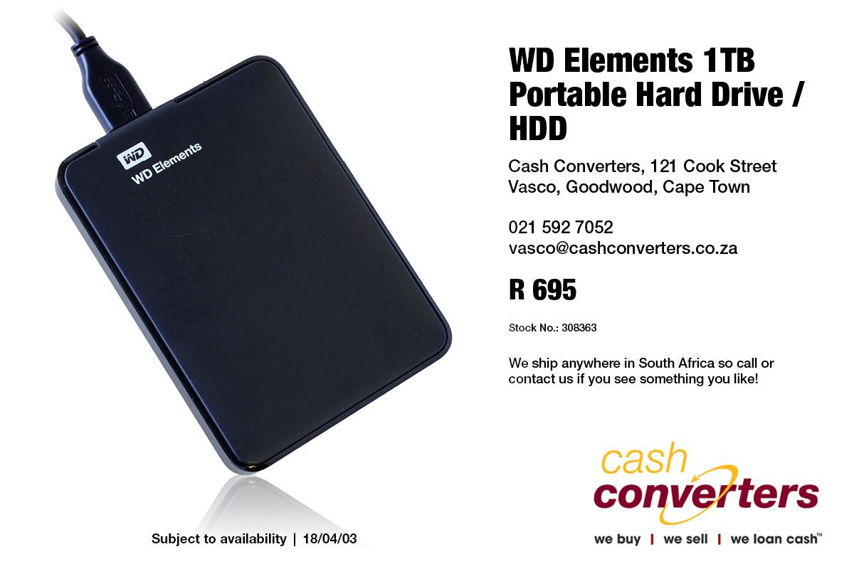 Wd Elements 1tb Portable Hard Drive Hdd Junk Mail Hardisk External