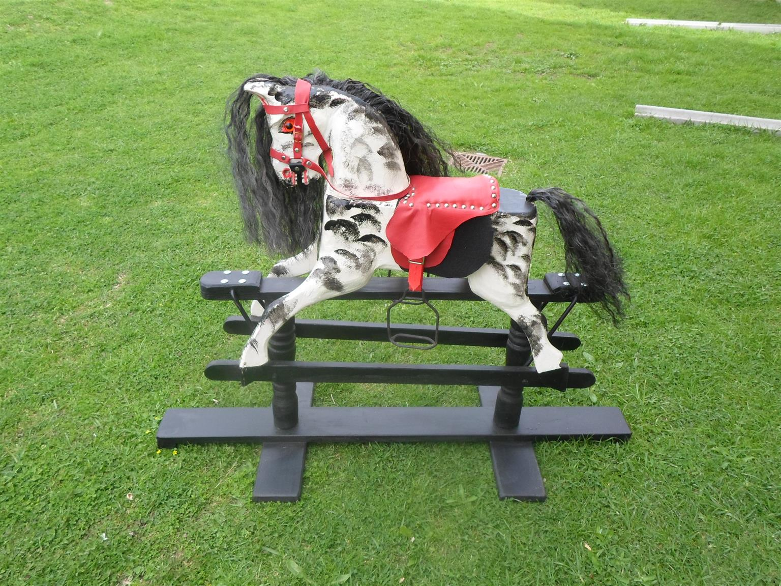 Carved Rocking Horse for Kids 3 to 8 years old