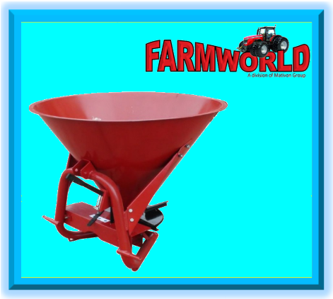 S2837 Red RY Agri 600L 480kg Fertilizer Spreader New Implement