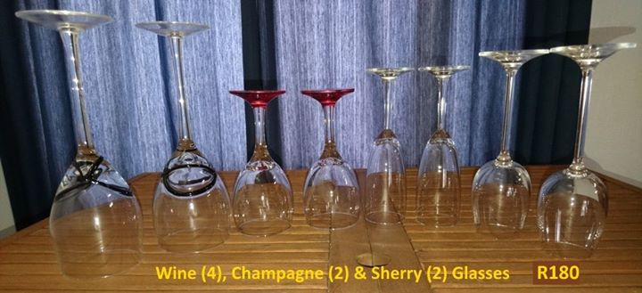 Wine,champagne and sherry glasses