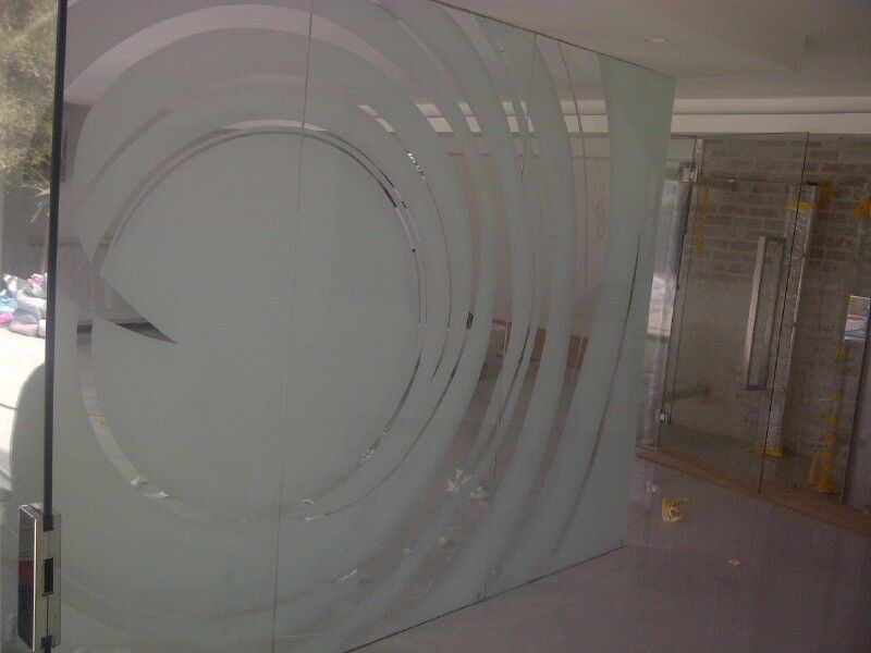 Decorative Window Film - Privacy Film - Sandblast Vinyl - Window Tinting