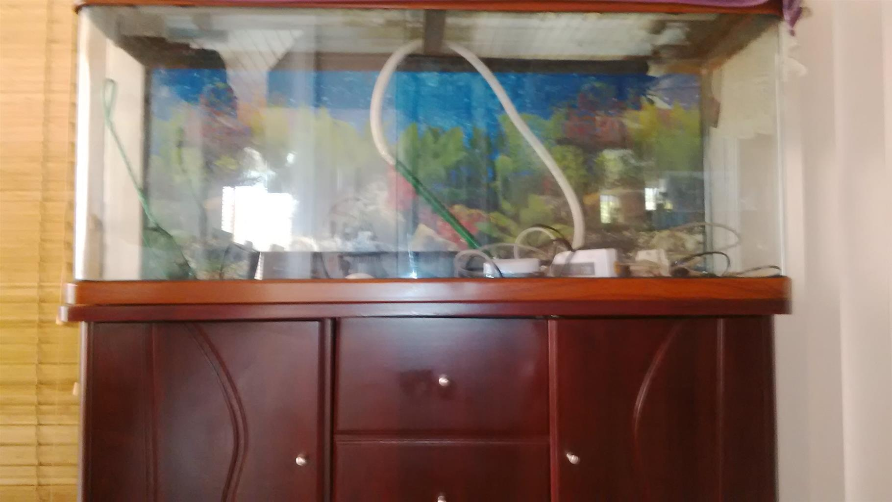 Fish Aquarium with Cabinet