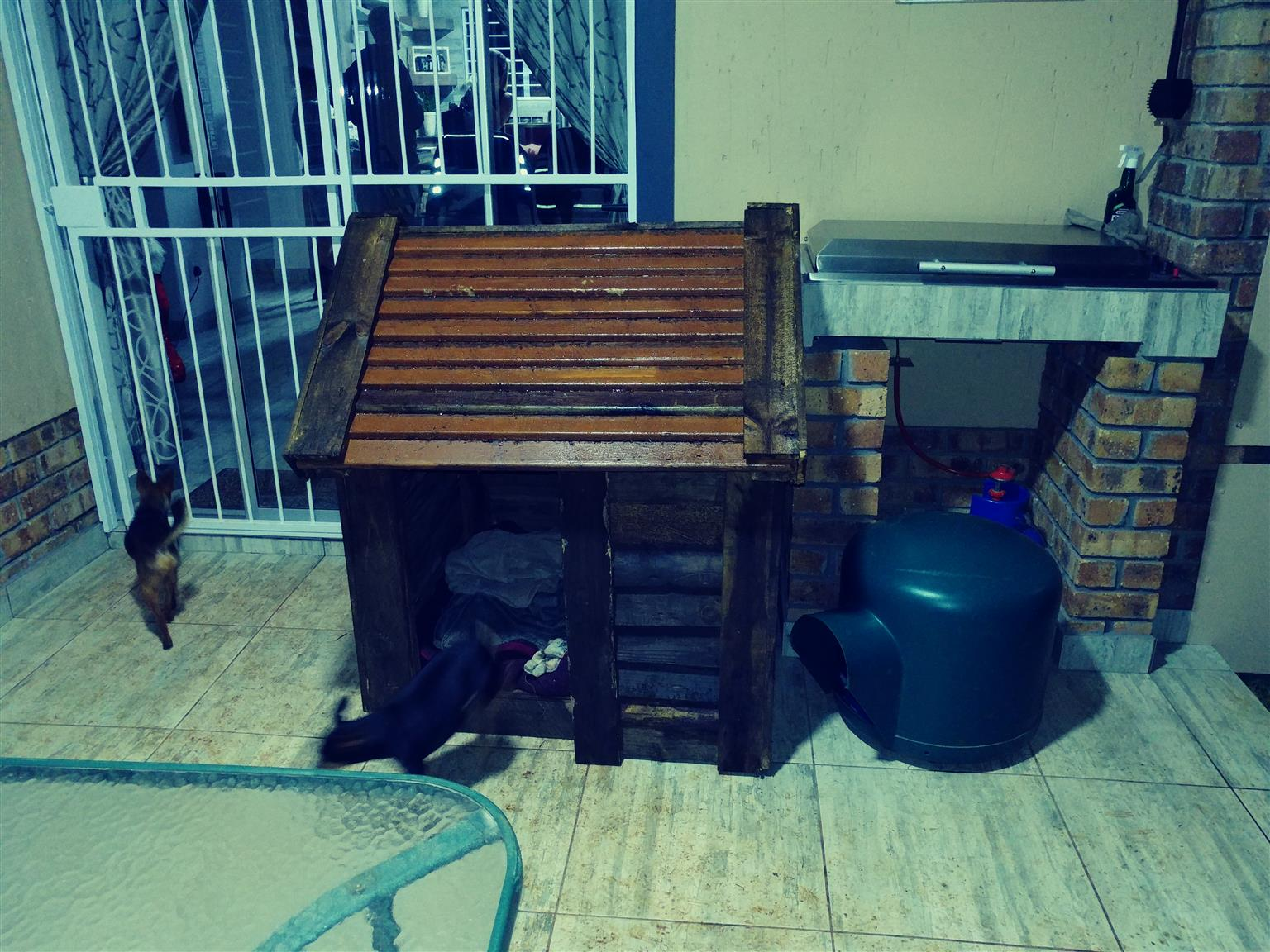 Large wood kennel for sale