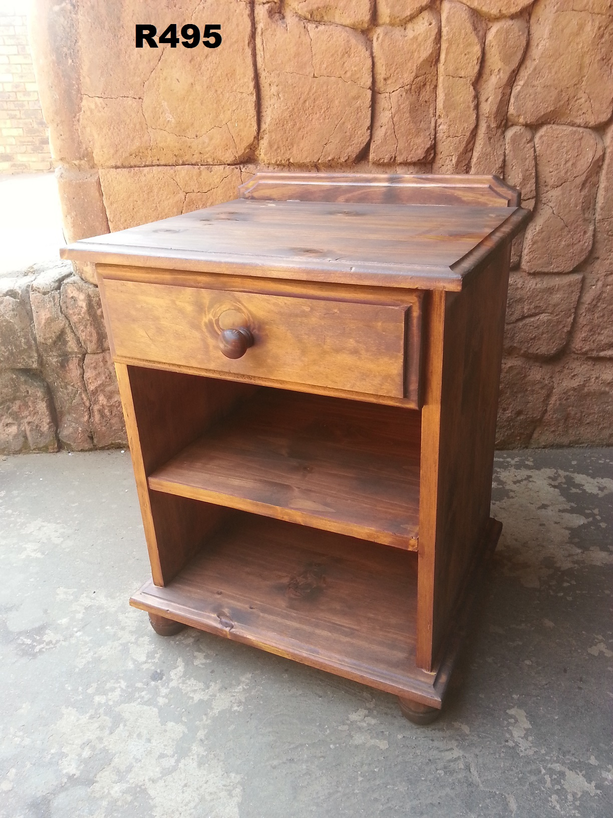 Pine Bedside Table (480x405x605)