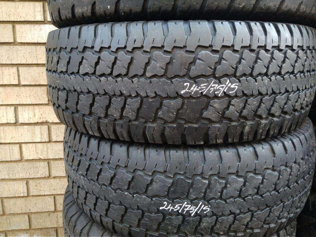 15 inch Bakki tyres (2 x 245/75/15)