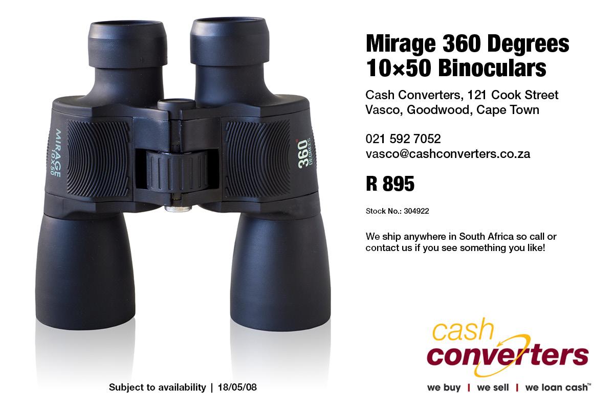 Mirage 360 Degrees 10×50 Binoculars