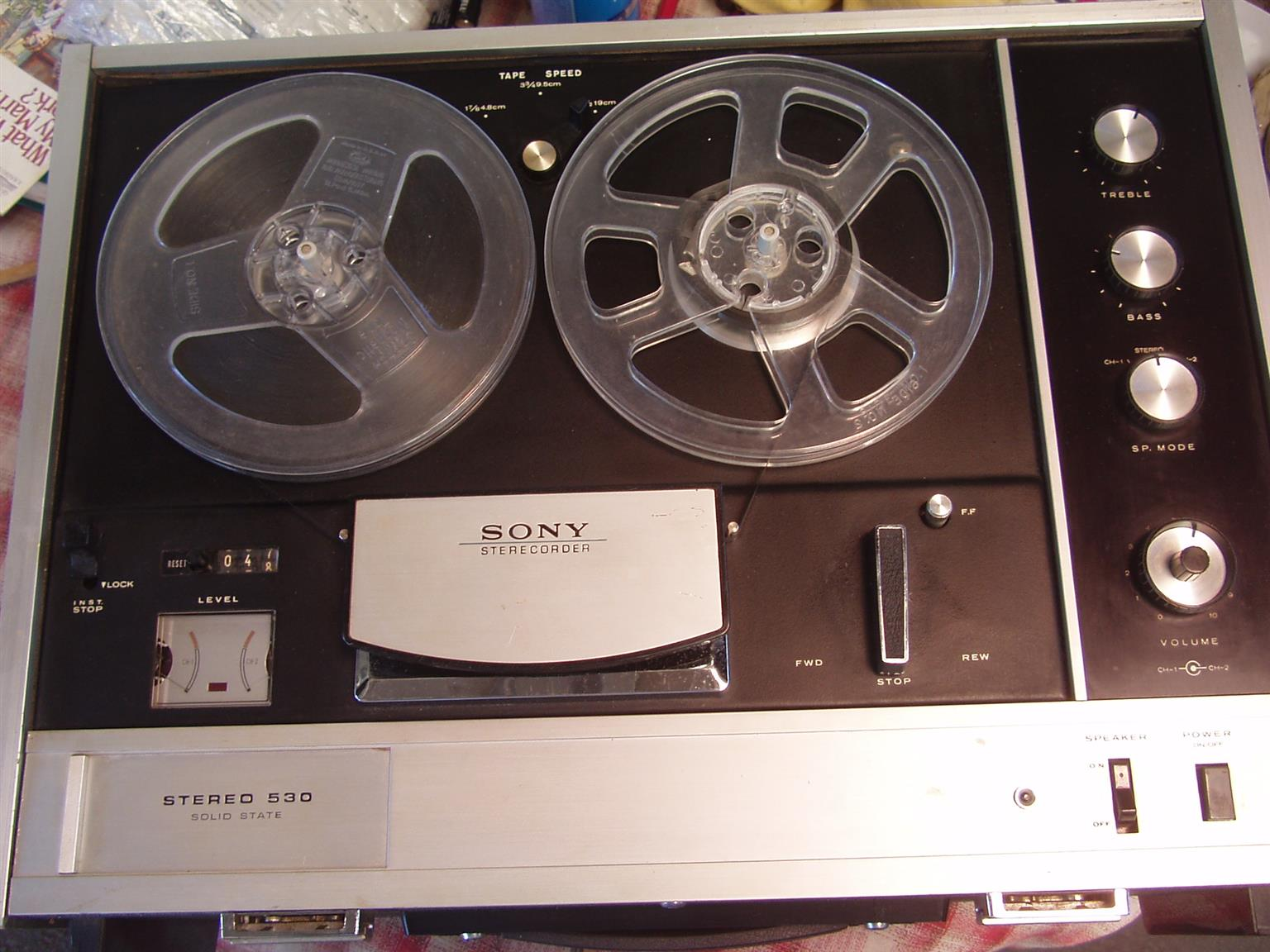 Sony TC-530, Stereo 530, Reel to Reel Recorder, Vintage - in excellent working order