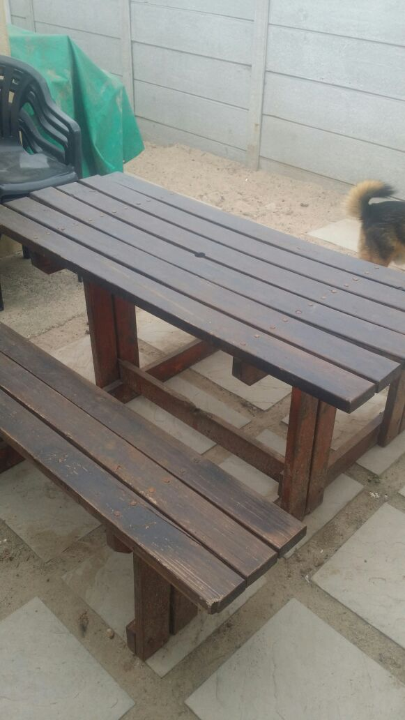 8 Seater wooden picnic table