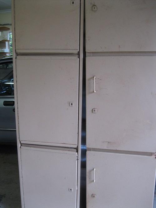 Groceries Three door steel cuboards