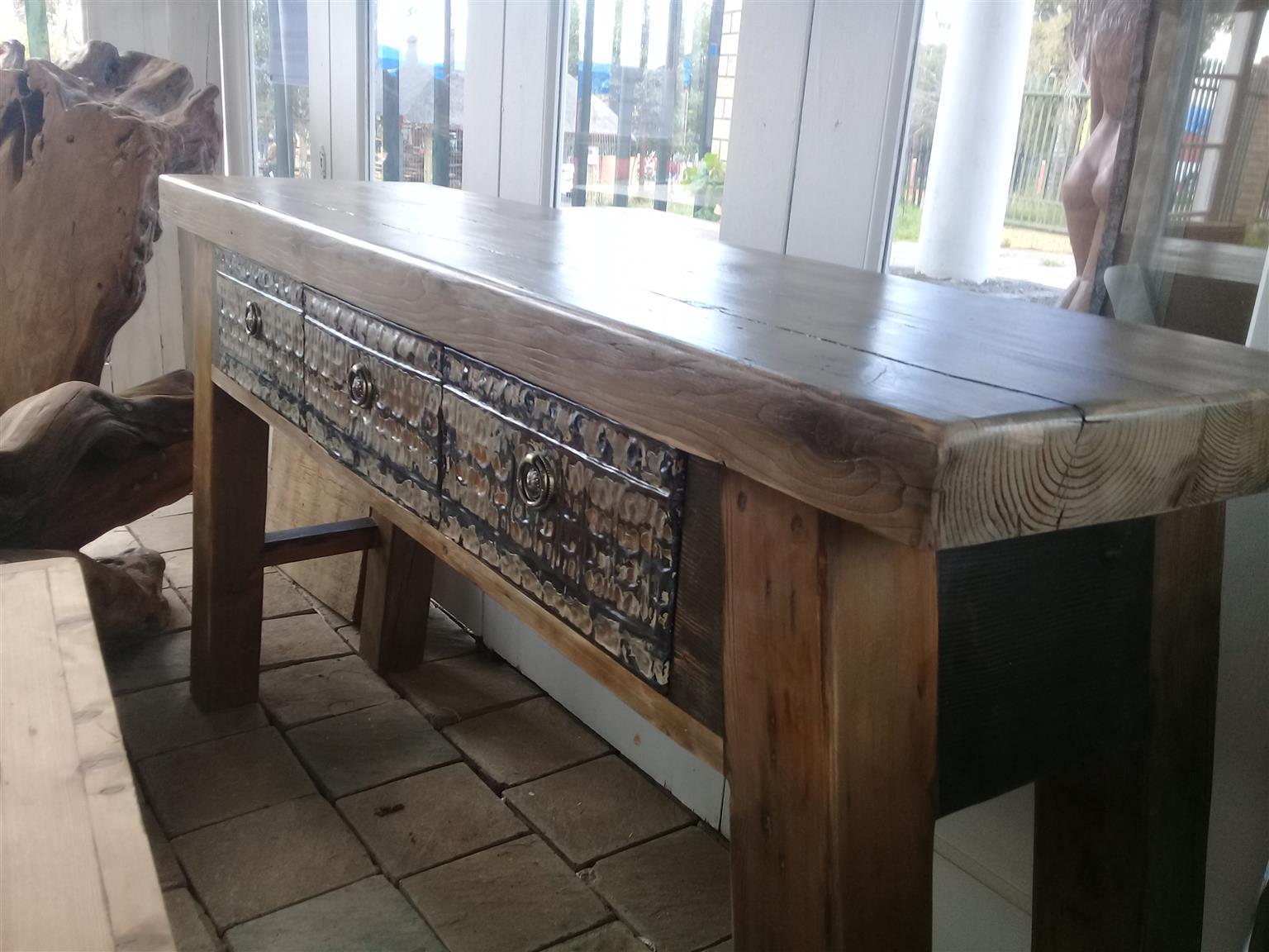 Oregon pine tables