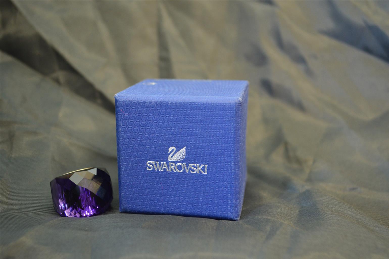 SWAROVSKI PURPLE VELVET PETITE RING